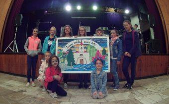 Deti obce zvečnili náš kostol :)